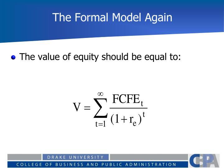 The Formal Model Again