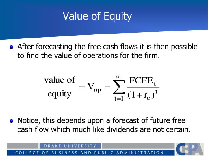 Value of Equity