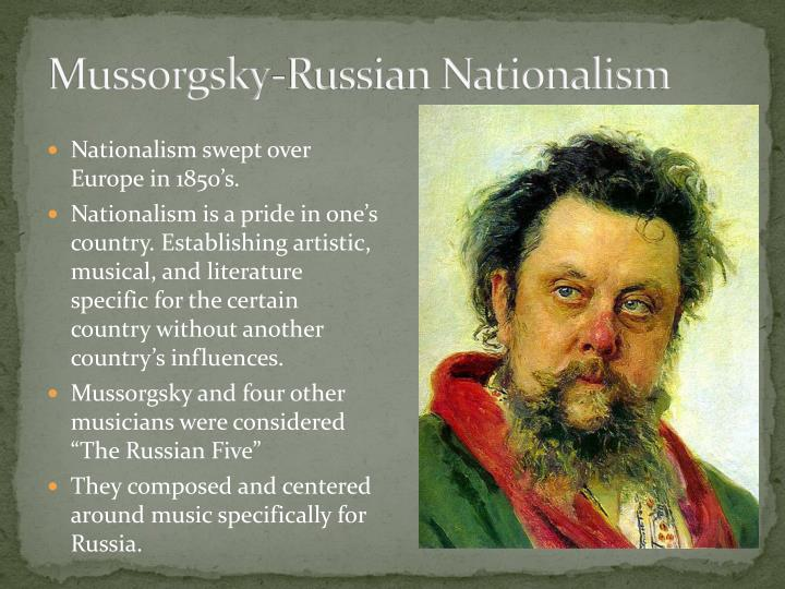Mussorgsky-Russian Nationalism