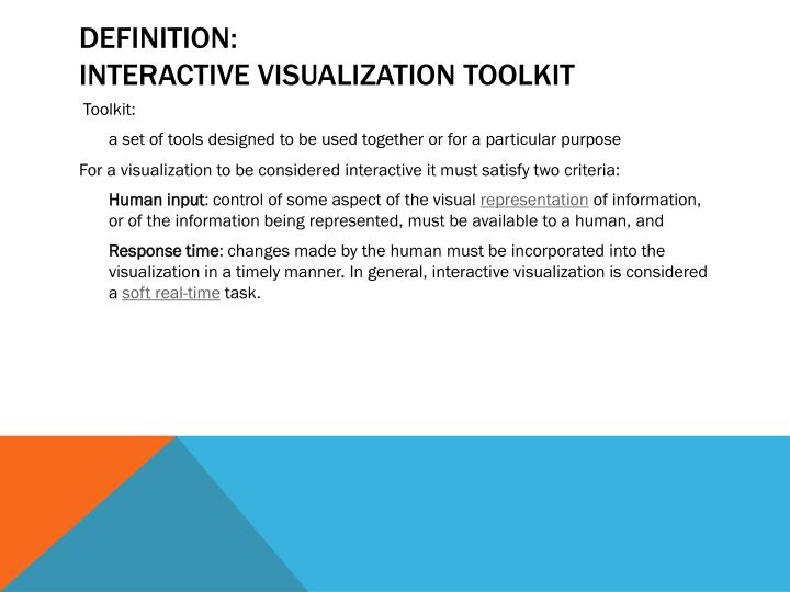 Definition interactive visualization toolkit