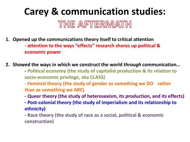 Carey & communication studies:
