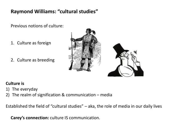 "Raymond Williams: ""cultural studies"""