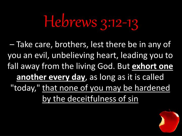 Hebrews 3:12-13