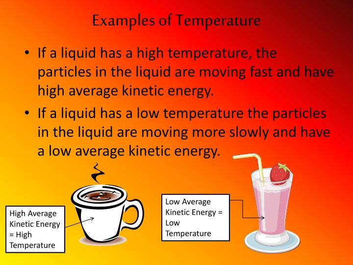 Examples of temperature