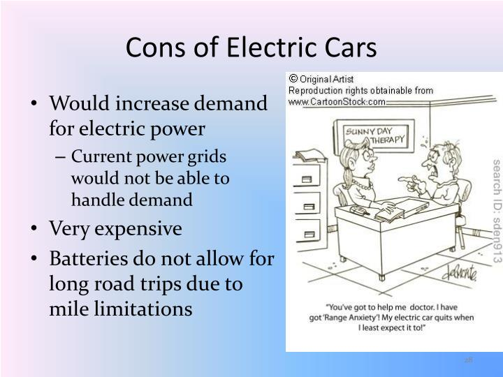 Cons of Electric Cars