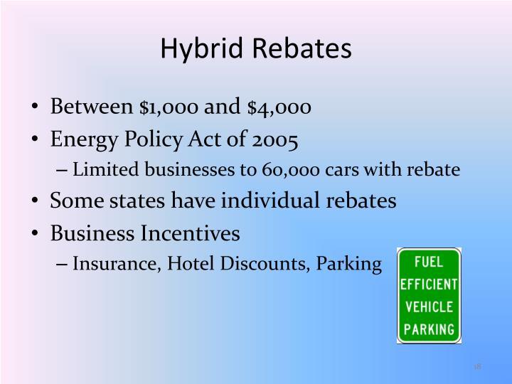 Hybrid Rebates