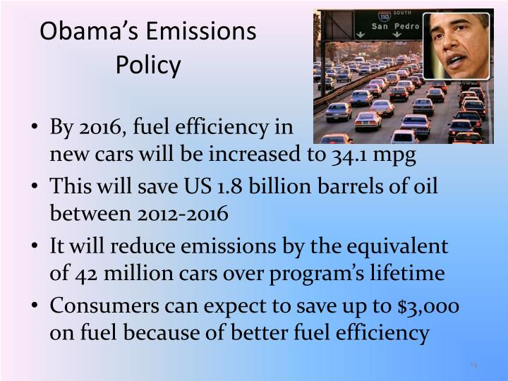 Obama's Emissions Policy