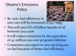 obama s emissions policy