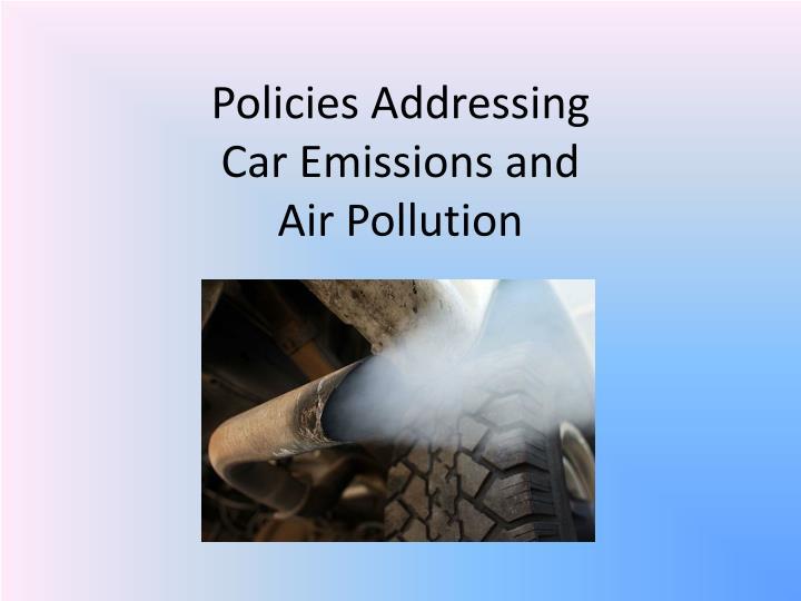 Policies Addressing