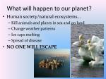 what will happen to our planet