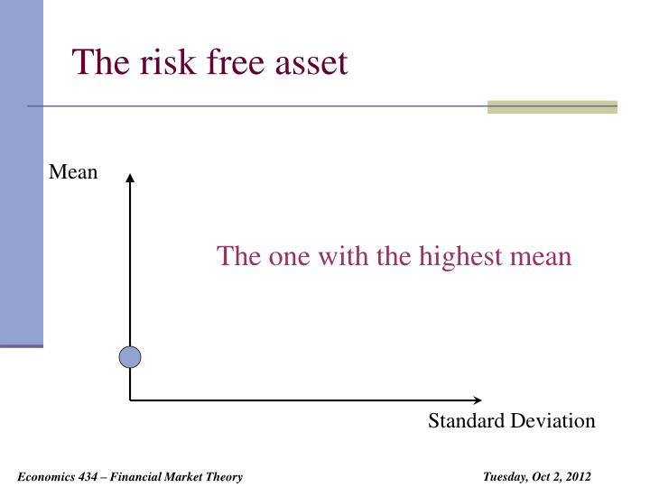 The risk free asset