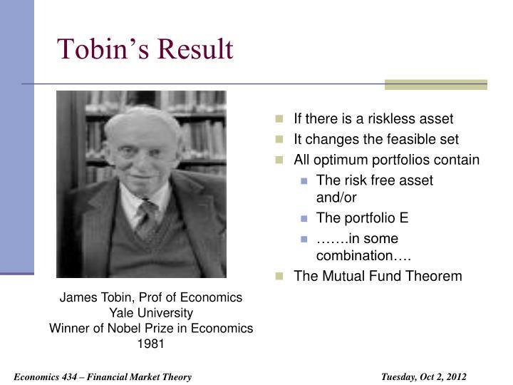 Tobin's Result