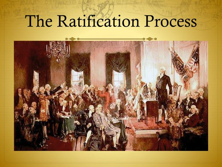 establish an agency relationship by ratification of the constitution