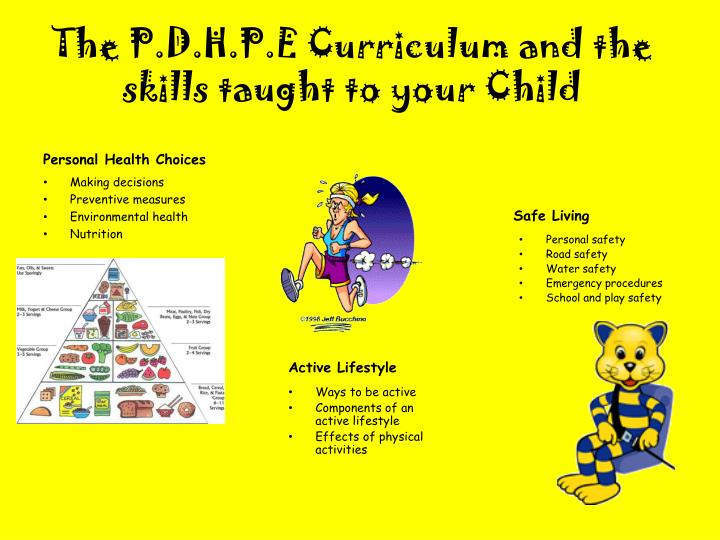 The P.D.H.P.E Curriculum and the skills taught to your Child