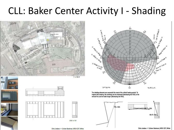 CLL: Baker Center Activity I - Shading