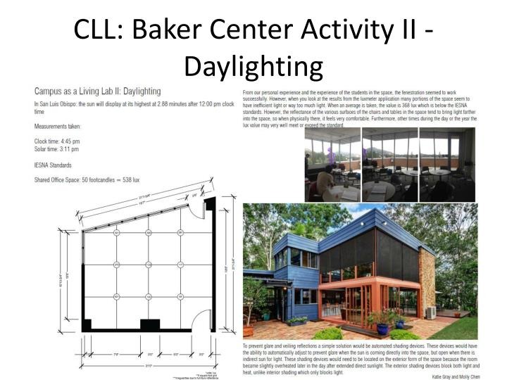 CLL: Baker Center Activity II - Daylighting