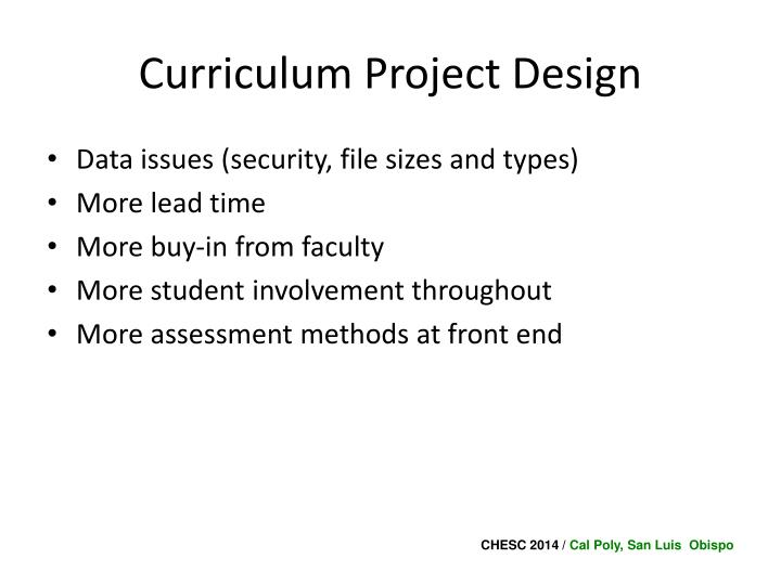 Curriculum Project Design