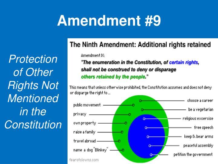 Amendment #9