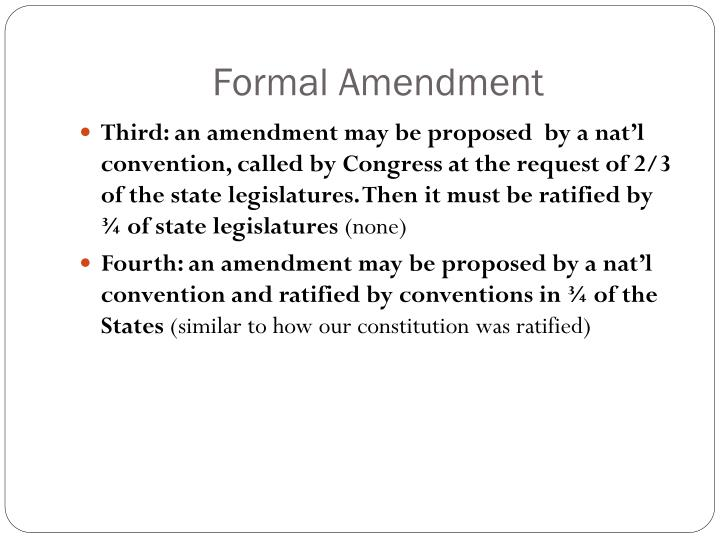 Formal Amendment