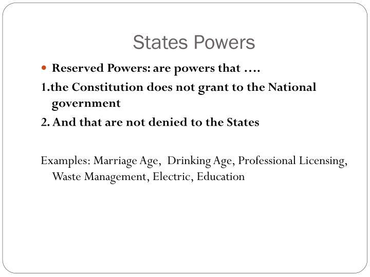 States Powers