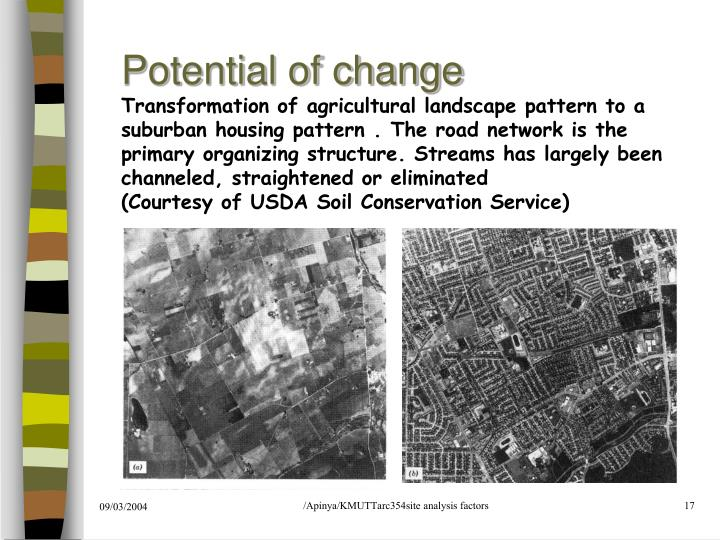 Potential of change