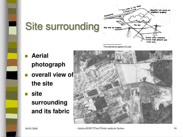 Site surrounding