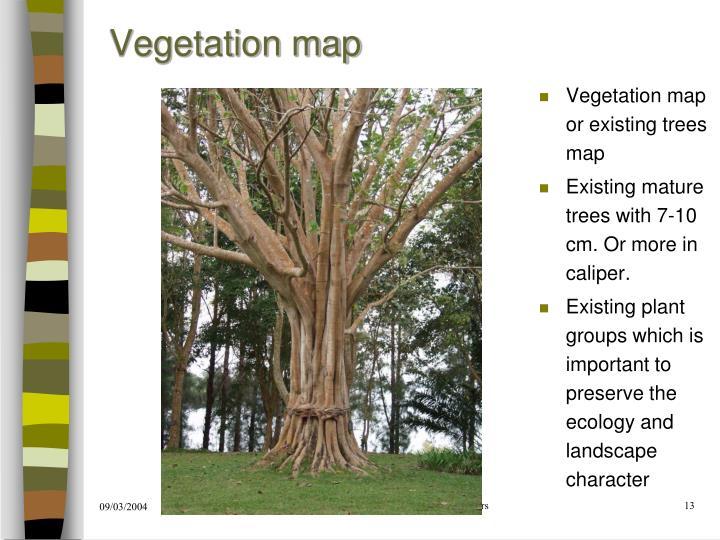 Vegetation map