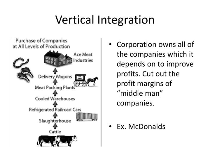 vertical integration of mcdonalds Mcdonalds is the number one  that should be considered in the global expansion  mcdonalds is currently using the vertical integration approach to improve.