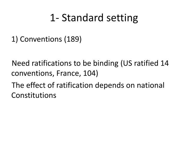 1- Standard setting