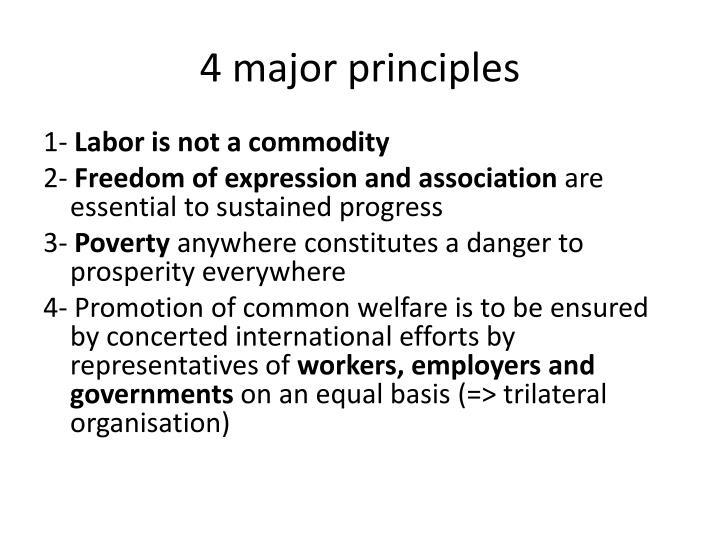 4 major principles