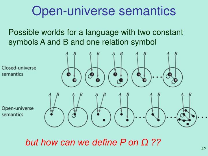 Open-universe semantics
