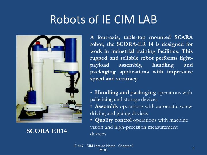 Robots of ie cim lab1