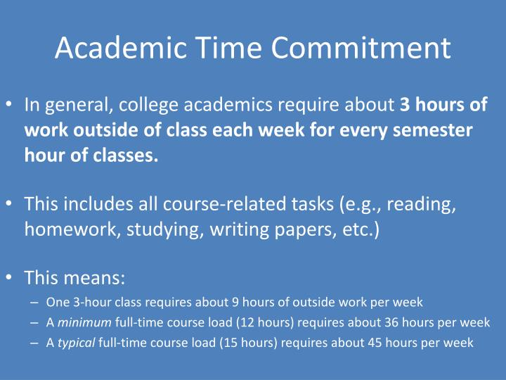 Academic Time Commitment