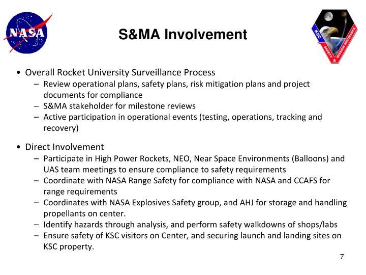 S&MA Involvement