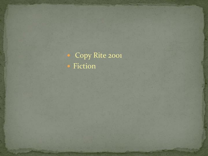 Copy Rite 2001