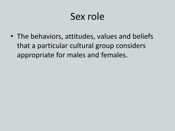 Sex role