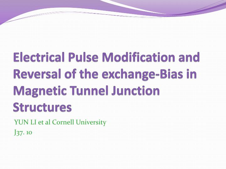 Electrical Pulse Modification and Reversal of the exchange-Bias in Magnetic Tunnel Junction Structures