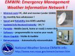 emwin emergency management weather information network