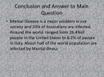 conclusion and answer to main question
