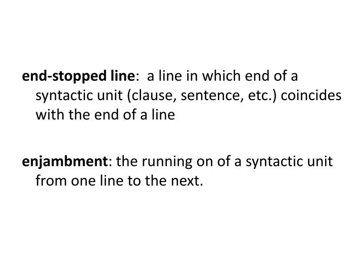 end-stopped line