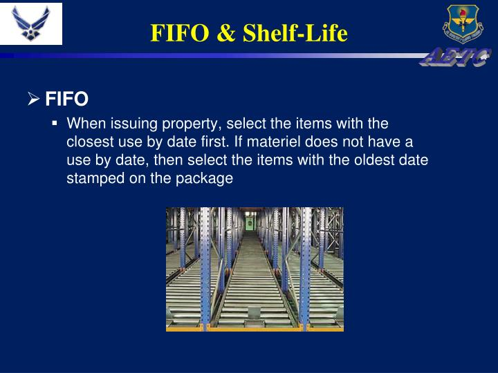 FIFO & Shelf-Life