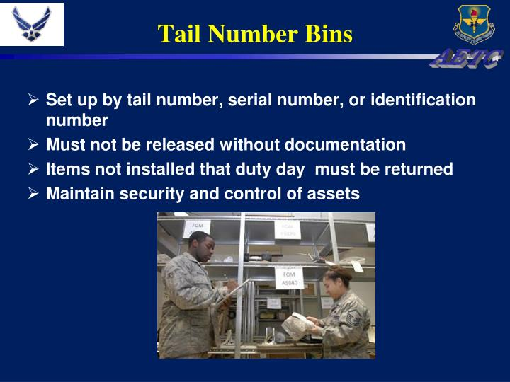 Tail Number Bins