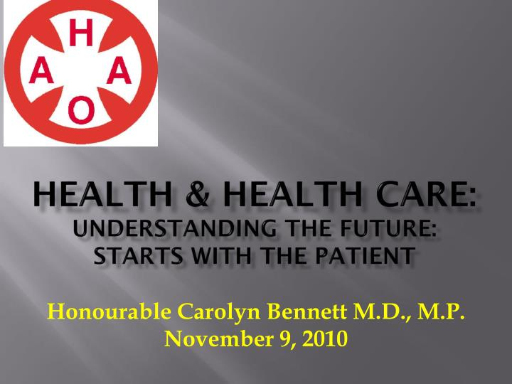 Health health care understanding the future starts with the patient
