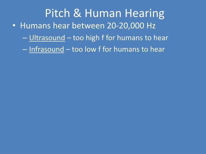 Pitch & Human Hearing