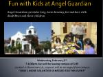 angel guardian provides long term housing for mothers with disabilities and their children