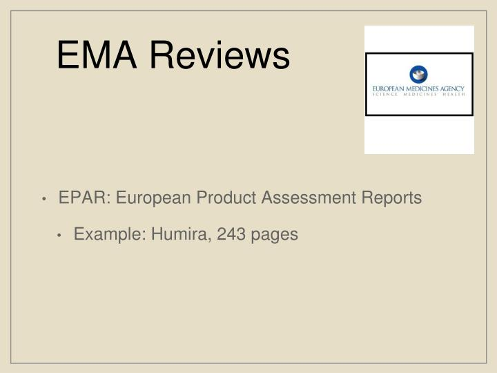 EMA Reviews