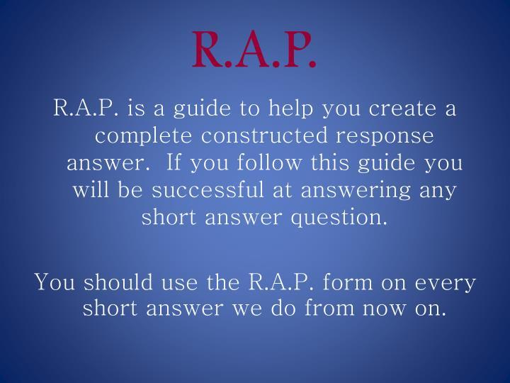 R.A.P.