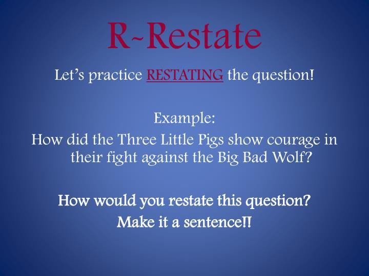 R-Restate