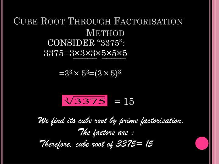 Cube Root Through