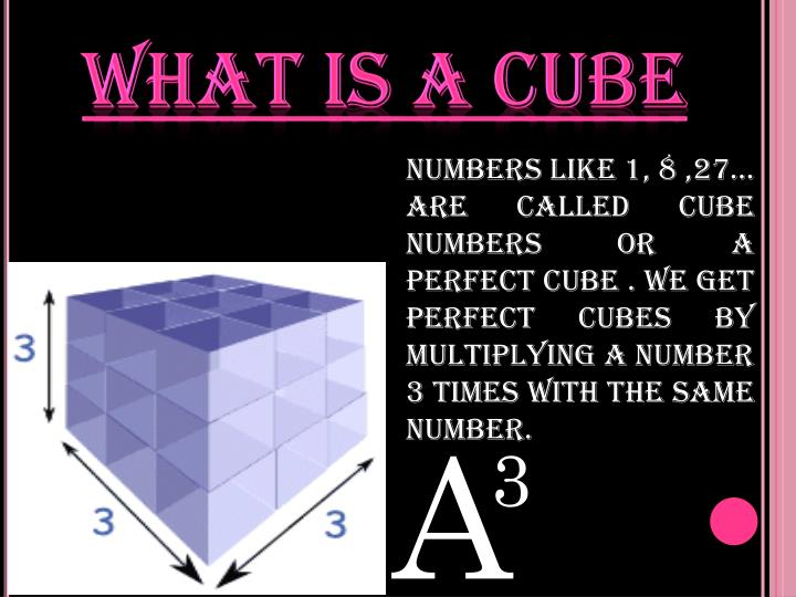 What is a cube